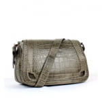 까르띠에 32cm SHOULDER BAG CROCODILE PRINT 카키-2B058