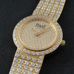 피아제 (PG 7039) PIAGET ALL Diamond 18k 특수금장 quartz
